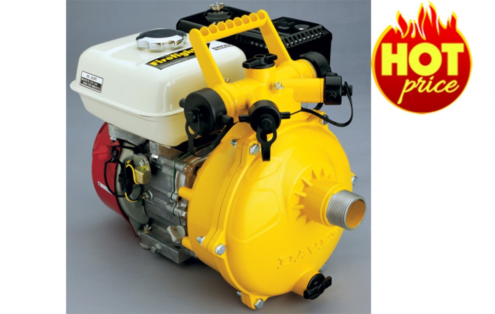 Cool Tech Pumps Davey 5265he Twin Impeller Firefighter With Honda Gx200 6 5hp Electric Start